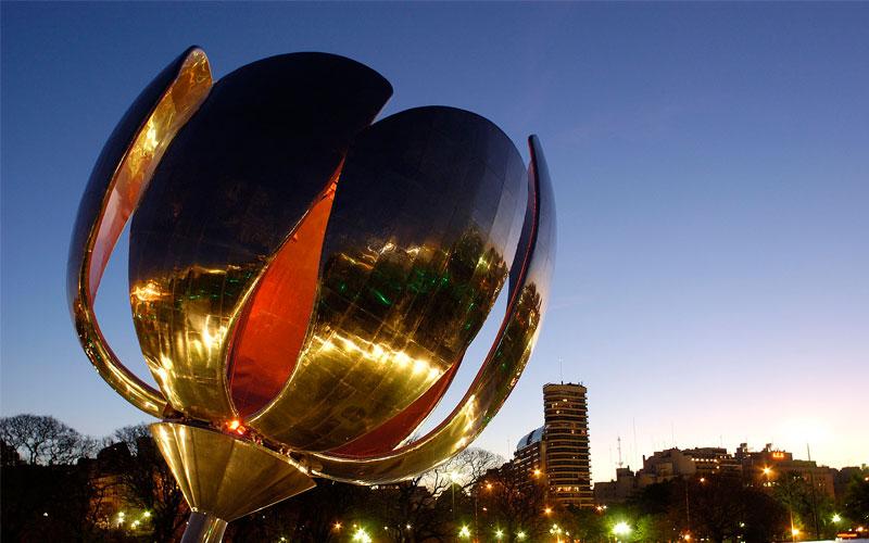 Mirror Stainless steel Flowers-Argentinean landmarks