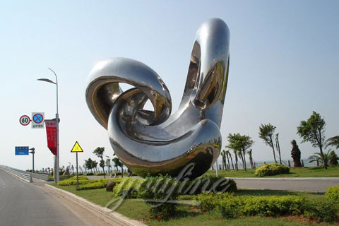 2017 Modern Outdoor Stainless Steel Sculpture with High Polished for Sale