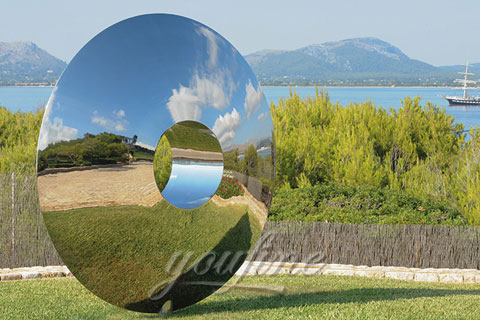 2017 Outdoor Modern Abstract polished mirror stainless steel sculptures designs for sale