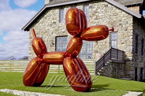 Abstract Modern Mirror Polished Stainless Steel Balloon duck Sculptures for Sale