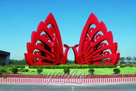 High Quality Outdoor Mirror Polished Stainless Steel Sculpture Fabrication