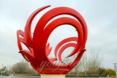 High Quality Outdoor Stainless Steel Sculpture Fabricated by Master for Sale