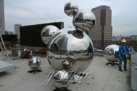 Modern Metal China Outdoor Abstract Sculpture in Stainless Steel for Sale