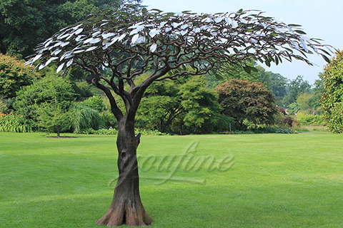 Modern Outdoor Mirror polished stainless steel sculpture for sale