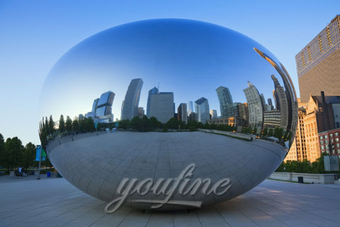 Outdoor Modern Mirror polished Large Stainless Steel Sculpture for Sale