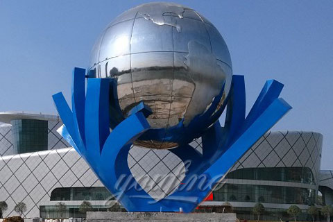 Outdoor Popular Metal Sculpture in Stainless Steel for Outdoor Decoration