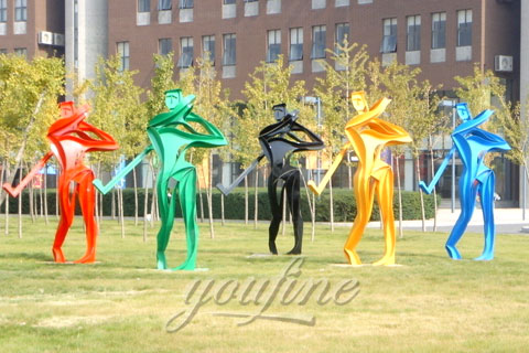 Outdoor abstract Mirror polished metal golf club sculpturesstatues for golf course or garden for sale